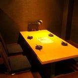 【デートにおすすめ】4名様用半個室の掘りごたつ席
