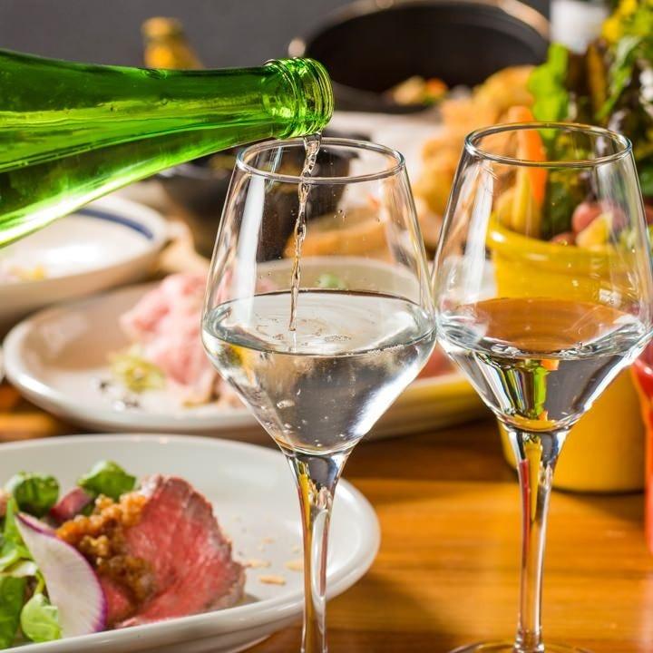 ワイングラスで楽しむ新潟の日本酒