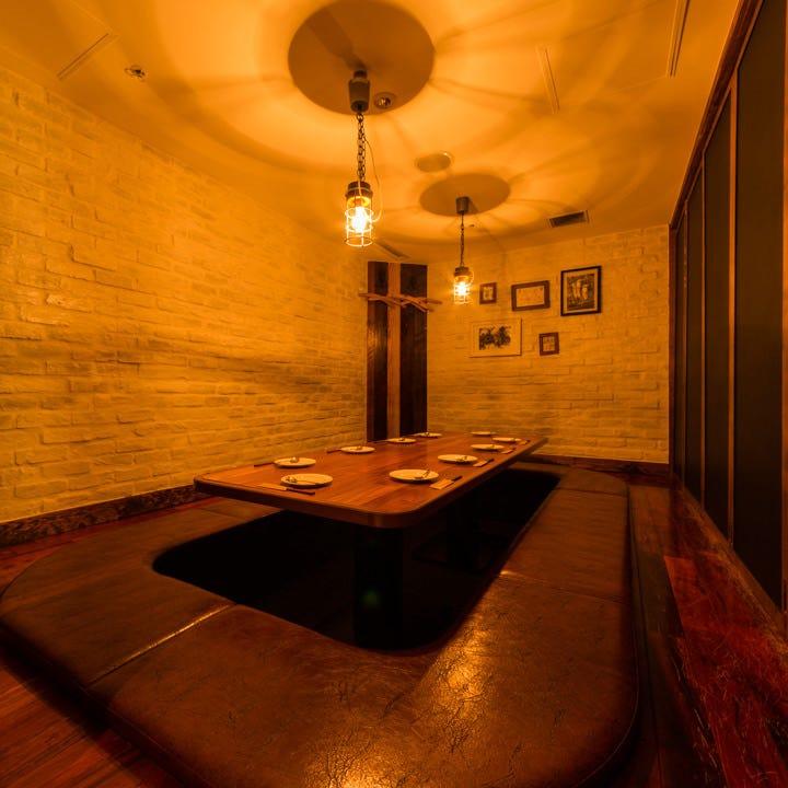 オシャレ空間!掘りごたつ完全個室