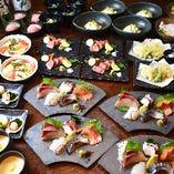 コース料理は個別盛りでご提供致します。