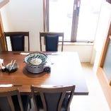半個室テーブル