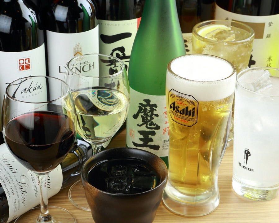 ワイン等、ドリンクを豊富にご用意!