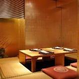 【完全個室/掘りごたつ】《4~8名様》金箔の完全個室で高級感あふれるお食事を