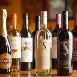 イタリアワインを中心に35種類以上がお楽しみいただけます♪