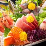 [高品質の仕入れ] 最高鮮度の魚介を江戸前寿司や刺身で味わう