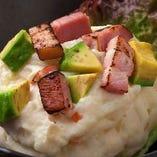 ベーコンとアボカドのポテトサラダ