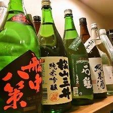 愛媛の地酒、日本酒を豊富に楽しめる