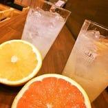 日本酒はもちろん、サワー、カクテル、焼酎等も豊富です。