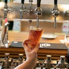 種類豊富な樽生クラフトビール