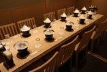 10名様テーブル禁煙個室 ビル喫煙所ございます 個室最大26名様