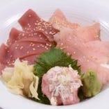 マグロ3色丼