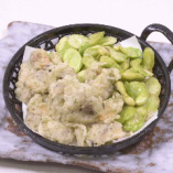 アサリと空豆のおつまみ揚げ