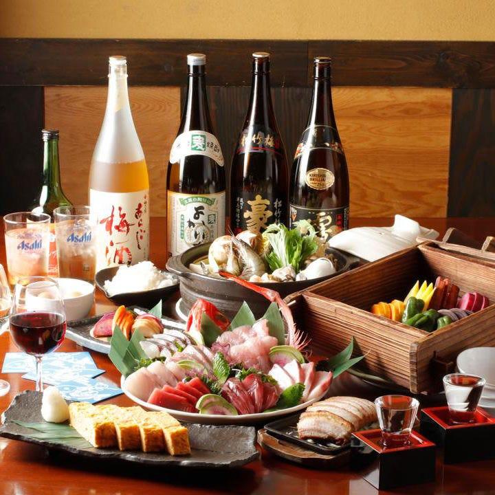 神奈川地元食材を存分に味わえるご宴会コースがおすすめです
