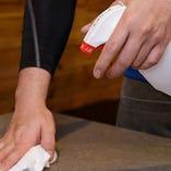 店内・厨房機器の除菌の励行
