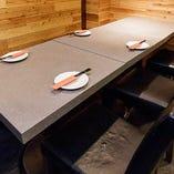 【片側ベンチシートのテーブル席/2名様~】