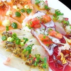 本日の鮮魚カルパッチョ5種盛り