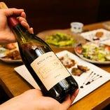 200種以上のワインから好みに合わせてお料理に合うワインを提案