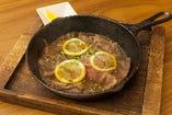 国産牛の薄切りレモンステーキ(150g)