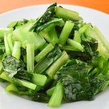 旬の青菜炒め