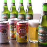 マンゴー・パイン・ライチ味の珍しい台湾フルーツビールもご用意