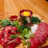 国産牛を使用した肉前菜盛り合わせ!自慢の逸品♪