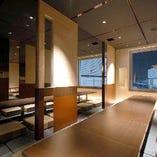 70人様までOKの団体個室♪落ち着いた雰囲気が魅力です!