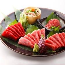 板前本まぐろ刺盛り Assorted Tuna Sashimi
