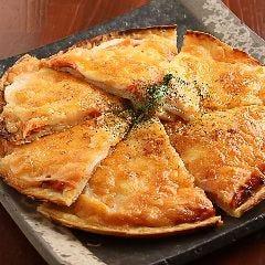 蓮根と明太子のチヂミピザ
