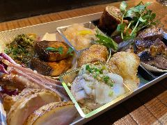 ちゃぼうず 肉魚プレート★3,300円【要予約】