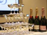 【完全個室】でパーティー♪ シャンパンタワーで盛り上がろ