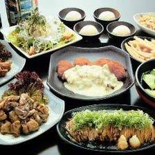 焼・刺・揚、多彩な味を楽しむコース