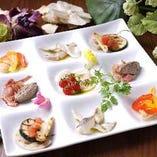 Hanaオリジナル前菜盛りプレート