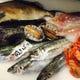 築地から直送される新鮮魚介類!