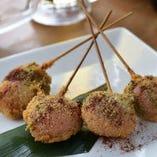 ⑨桜餅のデザート串カツ