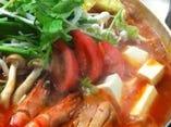 創作鍋海鮮ダシのトマトチゲ 〆のリゾットまでヘルシー満載