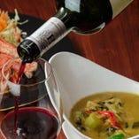 タイ料理とワイン