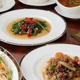 【ランチコース】 ランチでも本格タイ料理が味わえます