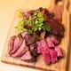 炭焼きで仕上げたお肉は最高にジューシーです