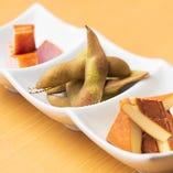 燻製3種盛り チーズ・枝豆・ベーコン