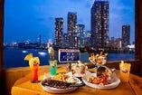 美味しい料理と素敵な夜景が楽しめます!