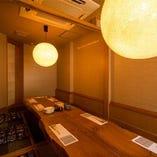 お座敷個室は和のこだわり 木のぬくもりを感じる完全個室