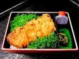松阪ポークと九条葱のロースカツ重