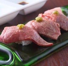 裏名物【肉寿司】もちろん1貫~OK