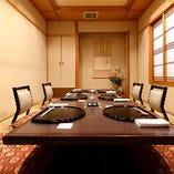 接待・お顔合わせ・ご会食に最適な掘りごたつ席(2~8名様)