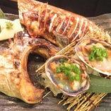 どっかん焼魚貝3種盛