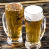 飲んべえに人気の生ビール【泡なし】☆ビールを余すところなく味わえます♪