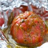 トマトバジルホイル焼き