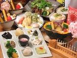 充実のコース料理で昼も夜も楽しめます!