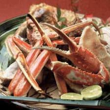 冬季限定、地元産ズワイ蟹を堪能