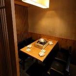 テーブル席半個室(~4名様・~6名様・~10名様)